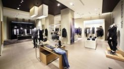 Photo: Interior design of a clothing store; Copyright: PantherMedia / fiphoto